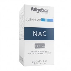 NAC (N-ACETYL-L-CYSTEINE 600 MG) 60 Cápsulas ATLHETICA NUTRITION CLEANLAB